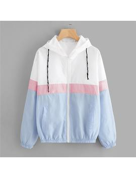 """Blue Pink White"" Windbreaker by Aesthentials"