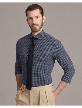 Tattersall Stretch Shirt by Ralph Lauren