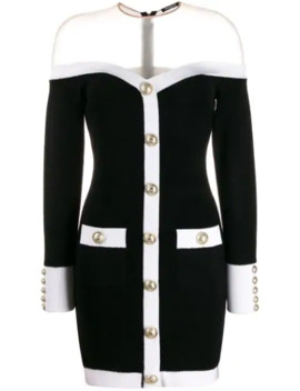 Off The Shoulder Mini Dress by Balmain