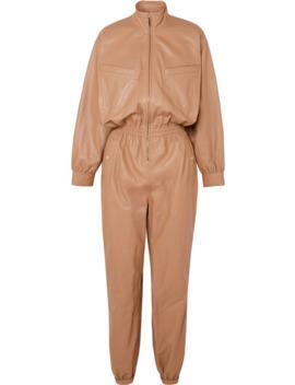Espionage Leather Jumpsuit by Zimmermann