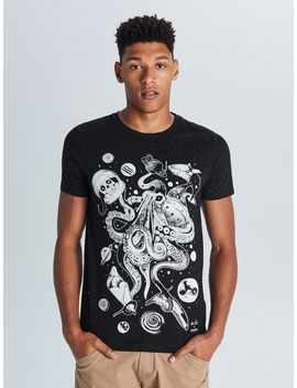 Octopus Print T Shirt by Cropp