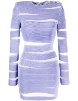 Sheer Cut Out Bodycon Dress by Balmain