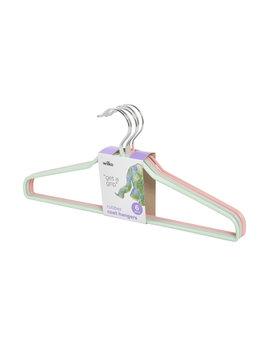 Wilko Rubber Coated Coat Hangers Assorted 6 Pack Wilko Rubber Coated Coat Hangers Assorted 6 Pack by Wilko