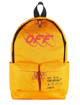 Industrial Yellow Printed Canvas Backpack by Off White