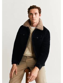 Faux Shearling Inner Corduroy Jacket by Mango