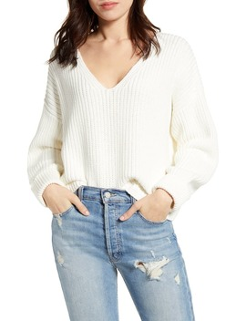 Millie Mozart Rib V Neck Sweater by French Connection