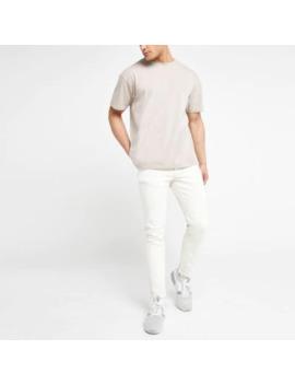 Ecru Dylan Slim Fit Jeans by River Island