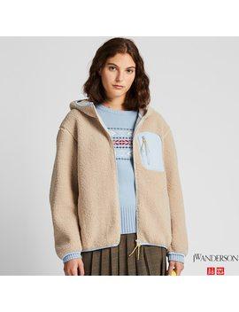 Women Jw Anderson Fleece Lined Zipped Hoodie by Uniqlo