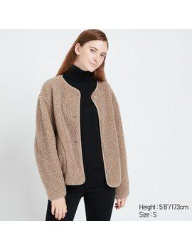 Women Fleece Crew Neck Cardigan (20) by Uniqlo