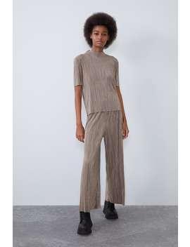 Pantalon PlissÉ by Zara