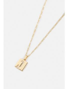 Gold Look J Initial Ditsy Necklace by Missguided