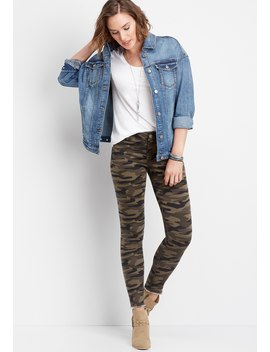Denim Flex™ Camo Lace Up Jegging by Maurices
