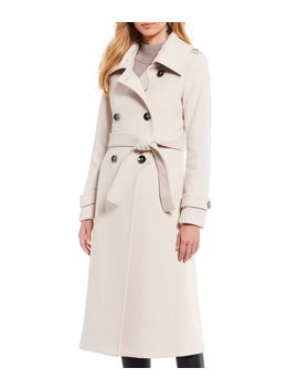 Kate Double Breasted Wool Blend Coat With Envelope Collar by Antonio Melani