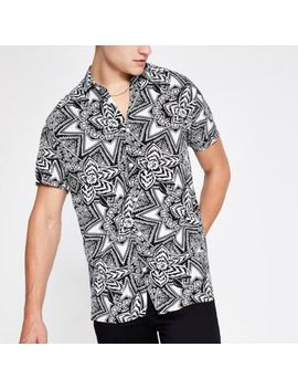 Selected Homme White Print Regular Fit Shirt by River Island