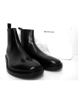 Shoes Black Boots Side Gore Leather by Balenciaga  ×