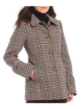 Classic Wool Blend Barn Plaid Coat by Preston & York