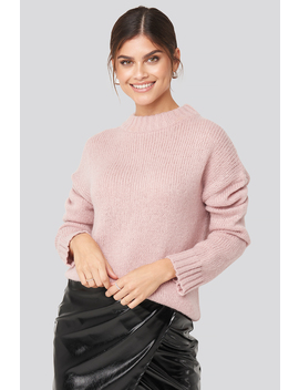 Wide Rib Knitted Sweater Rose by Adorablecaroxnakd