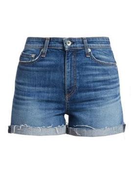 Nina High Rise Cuffed Denim Shorts by Rag & Bone