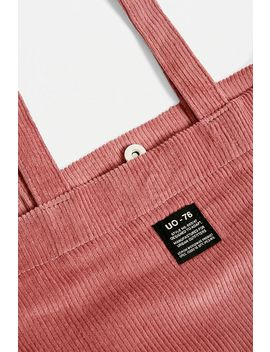 Uo Corduroy Light Red Tote Bag by Urban Outfitters