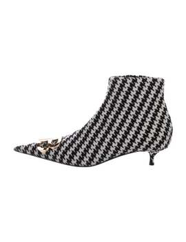 Houndstooth Ankle Boots by Balenciaga