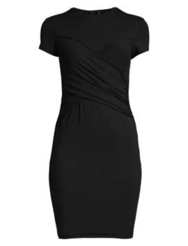 Pima Cotton Short Sleeve Cross Front T Shirt Dress by Atm Anthony Thomas Melillo