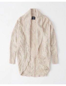 Cable Cocoon Cardigan by Abercrombie & Fitch