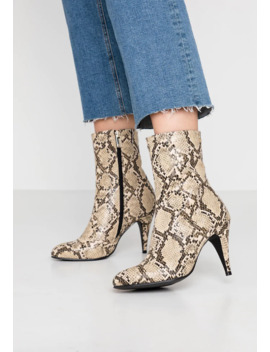 Snake Print Bootie   High Heel Stiefelette by Tommy Hilfiger