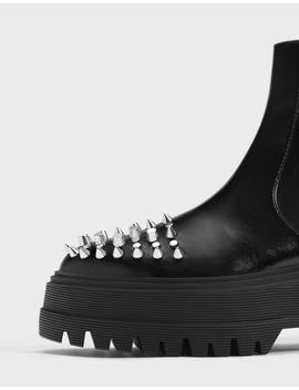 Stretch Ankle Boots With Stud Details Shoes   Bershka United Kingdom by Bershka