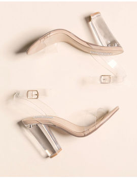 Steve Madden Camille Clear Womens Heeled Sandals by Steve Madden