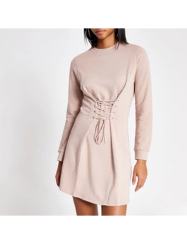 Pink Corset Sweater Dress by River Island