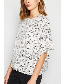 New Look Spot Frill Sleeve Oversized T Shirt by Next
