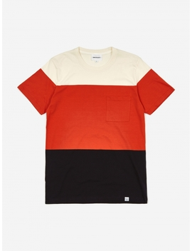 Niels Color Block T Shirt   Orange by Norse Projects