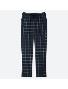 Women Flannel Stretch Tartan Checked Trousers (2) by Uniqlo