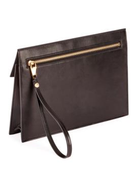 B Pouch Quilted Lambskin Logo Clutch Bag by Balmain