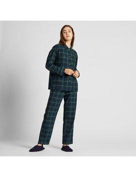 Women Flannel Stretch Checked Pyjamas (3) by Uniqlo