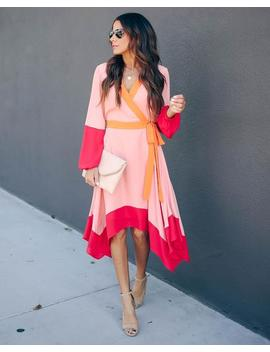 Chaos Colorblock Asymmetrical Dress by Vici