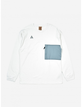 Acg Longsleeve T Shirt  Summit White/Aviator Grey by Nike