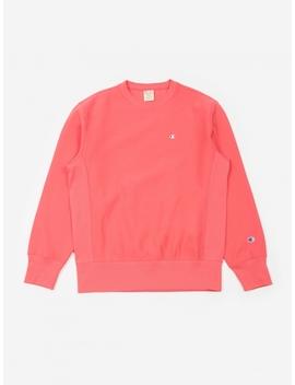 Reverse Weave Crewneck Sweatshirt   Pink by Champion