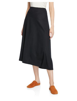 Paneled Wool Blend Midi Skirt by Vince