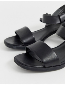 Camper Two Part Low Heel Sandal In Black by Camper