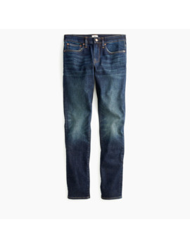 250 Skinny Fit Stretch On Demand Jean In Dark Worn In Wash by J.Crew