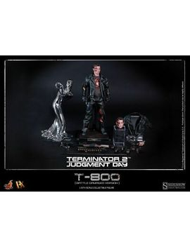 Hot Toys Dx13   Terminator 2 : Judgment Day   T 800 Battle Damaged Version  1/6 by Hot Toys