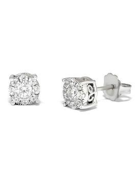 0.50 Ct. T.W. Unity Diamond Stud Earrings In 14k White Gold I, I1 by Unity Diamonds