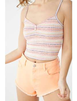 Ribbed Multicolor Striped Cami by Forever 21
