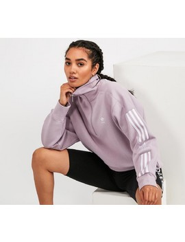 Womens Half Zip Lock Up Sweatshirt | Soft Vision Purple by Adidas Originals