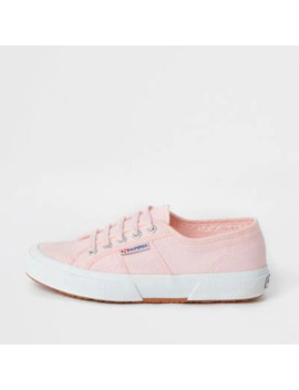 Superga Light Pink Classic Runner Trainers by River Island