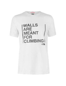 Tnf Men's Walls Are For Climbing T Shirt by The North Face