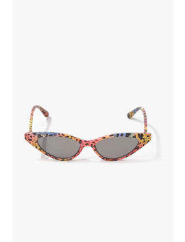 Cat Eye Ombre Cheetah Print Sunglasses by Forever 21