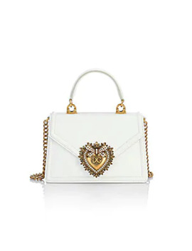 Devotion Leather Top Handle Bag by Dolce & Gabbana