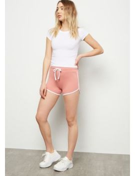 Pink Drawstring Super Soft Dolphin Shorts by Rue21